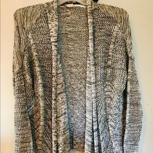 Roxy Marled Knit Open Cardigan Sweater XL